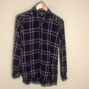 Michael Stars button down flannel top